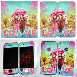 iPhone4 Custom Skins by zamzami