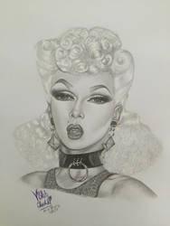 Violet Chachki by kenyascanvas
