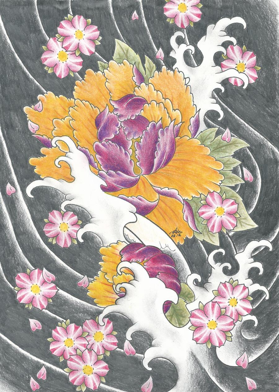 Japanese Flowers by PurpleRiot on DeviantArt