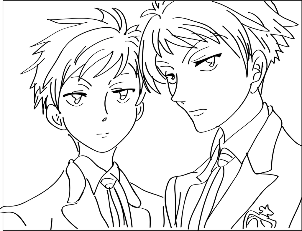 ouran highschool coloring pages - photo#30
