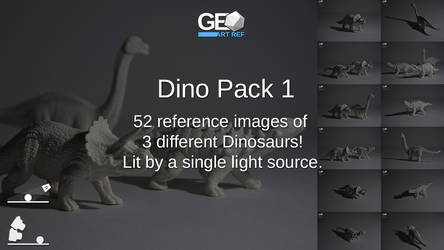 Dino Pack 1 by GeoArtRef