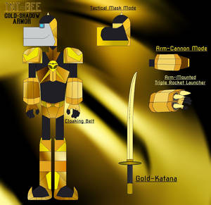TNT-Bee Gold Shadow Armor