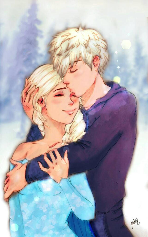 Jack frost and elsa by minimissdreamy on deviantart jack frost and elsa by minimissdreamy thecheapjerseys Choice Image