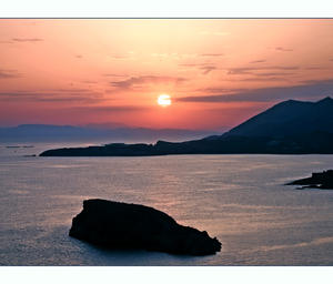 Sunset - Sounion by LunaInvicta