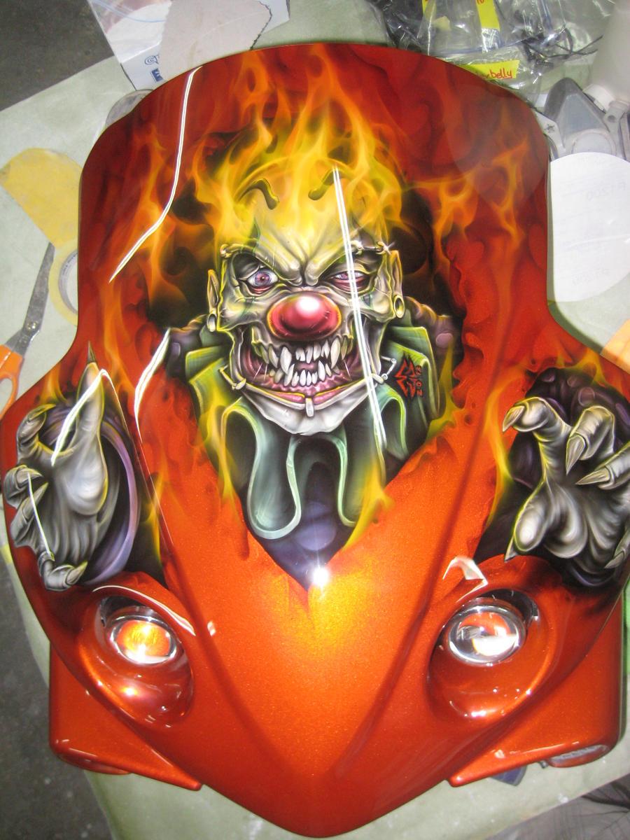 red flaming skull wallpaper