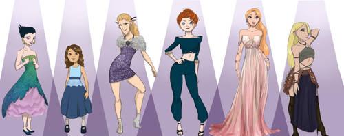 big four gals by aminan