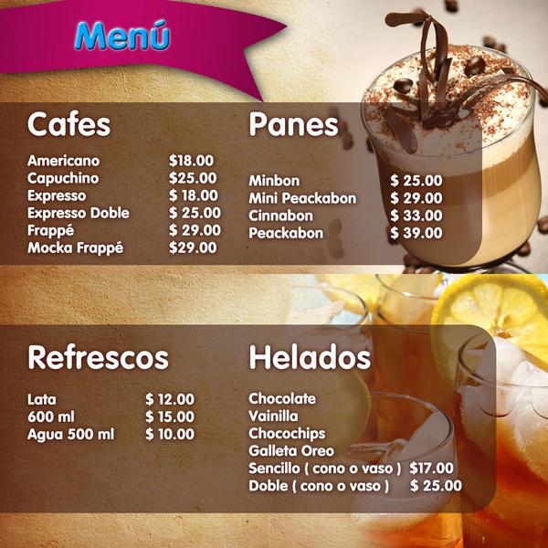 Menu cafeteria piccolo mondo by pris k on deviantart for Disenos de menus para cafeterias