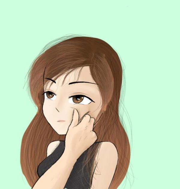 Pinching my cheek  by OCsArt