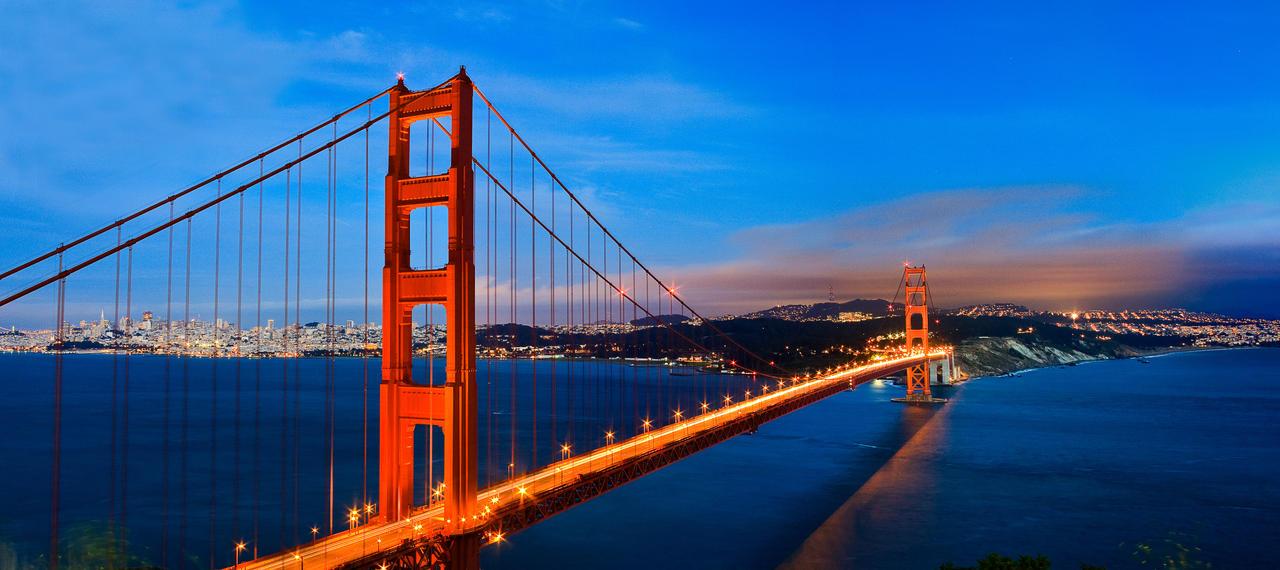 Night View Golden Gate Bridge By Xelement On Deviantart