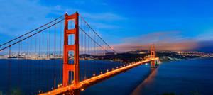 Night View Golden Gate Bridge by xelement