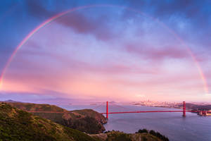 Rainbow - Golden Gate Bridge by xelement