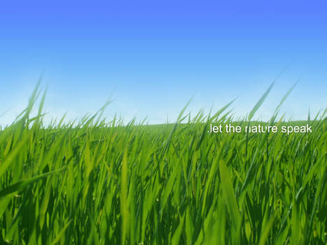 .let the nature speak