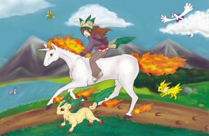 Racing to Victory by LadyVashra