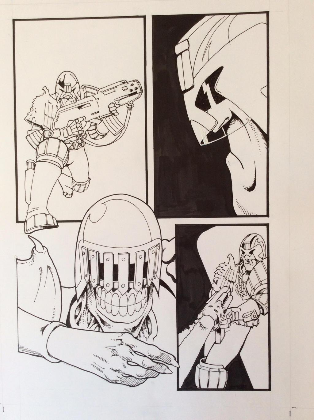 Dredd and Death page by JeremyWDunn