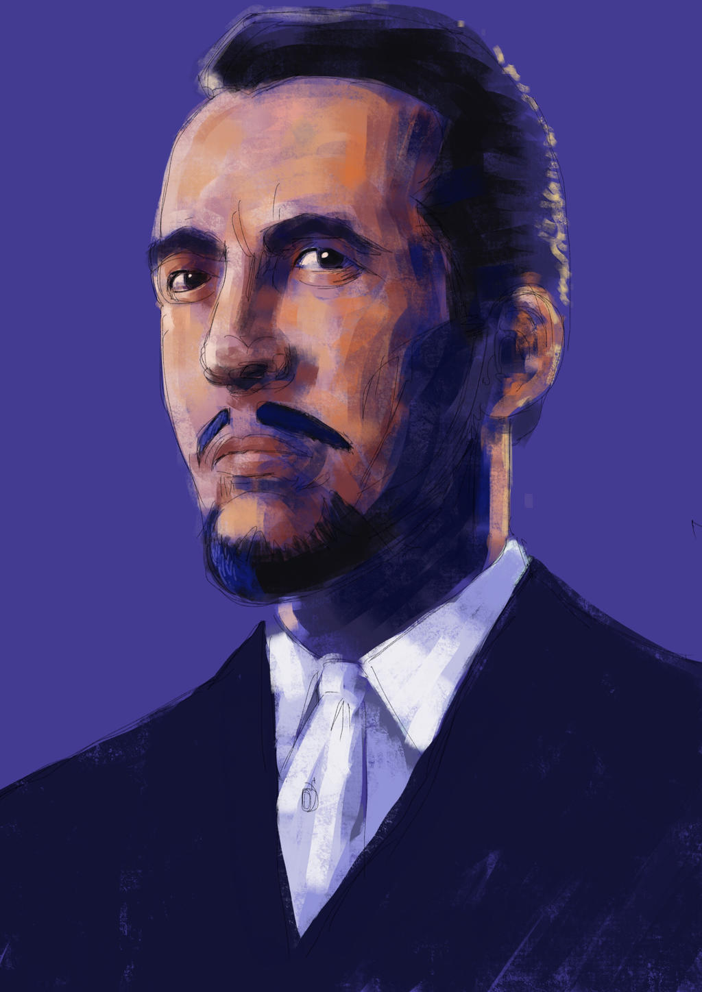 Sir Christopher Lee in The Devil Rides Out by JeremyWDunn
