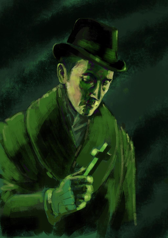 Peter Cushing as Van Helsing by JeremyWDunn