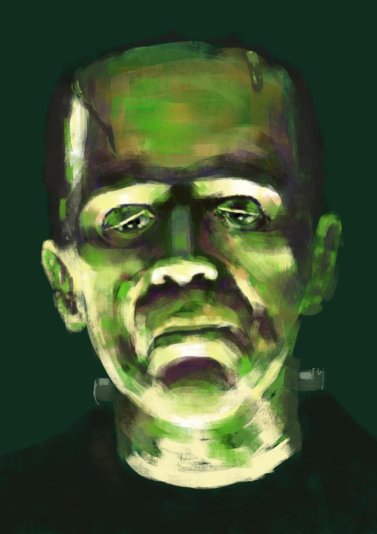Karloff Frankenstein's monster by JeremyWDunn