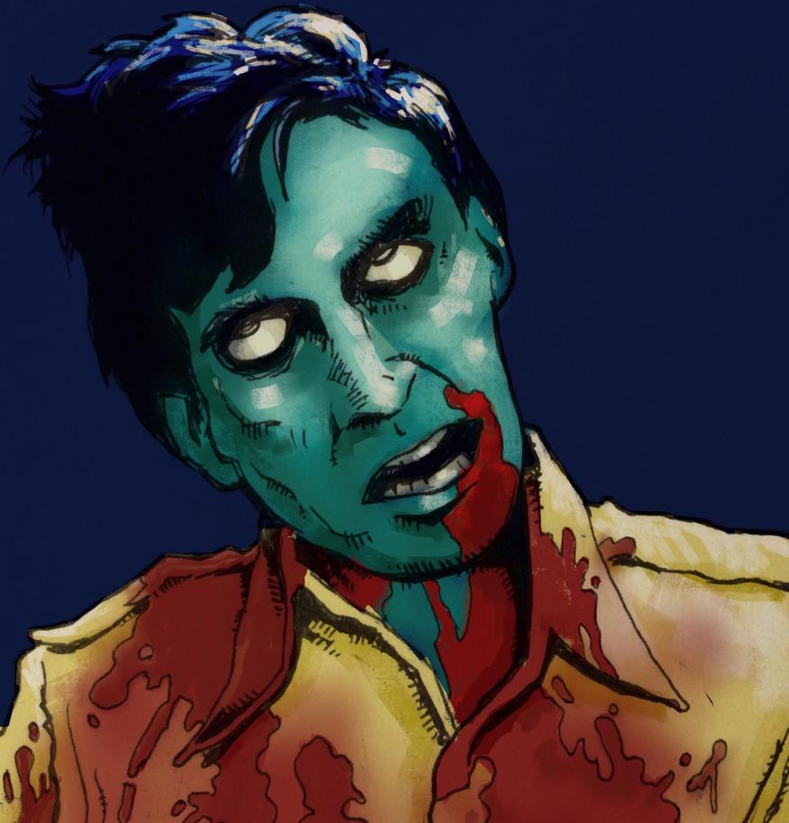 Flyboy Dawn of the Dead zombie by JeremyWDunn