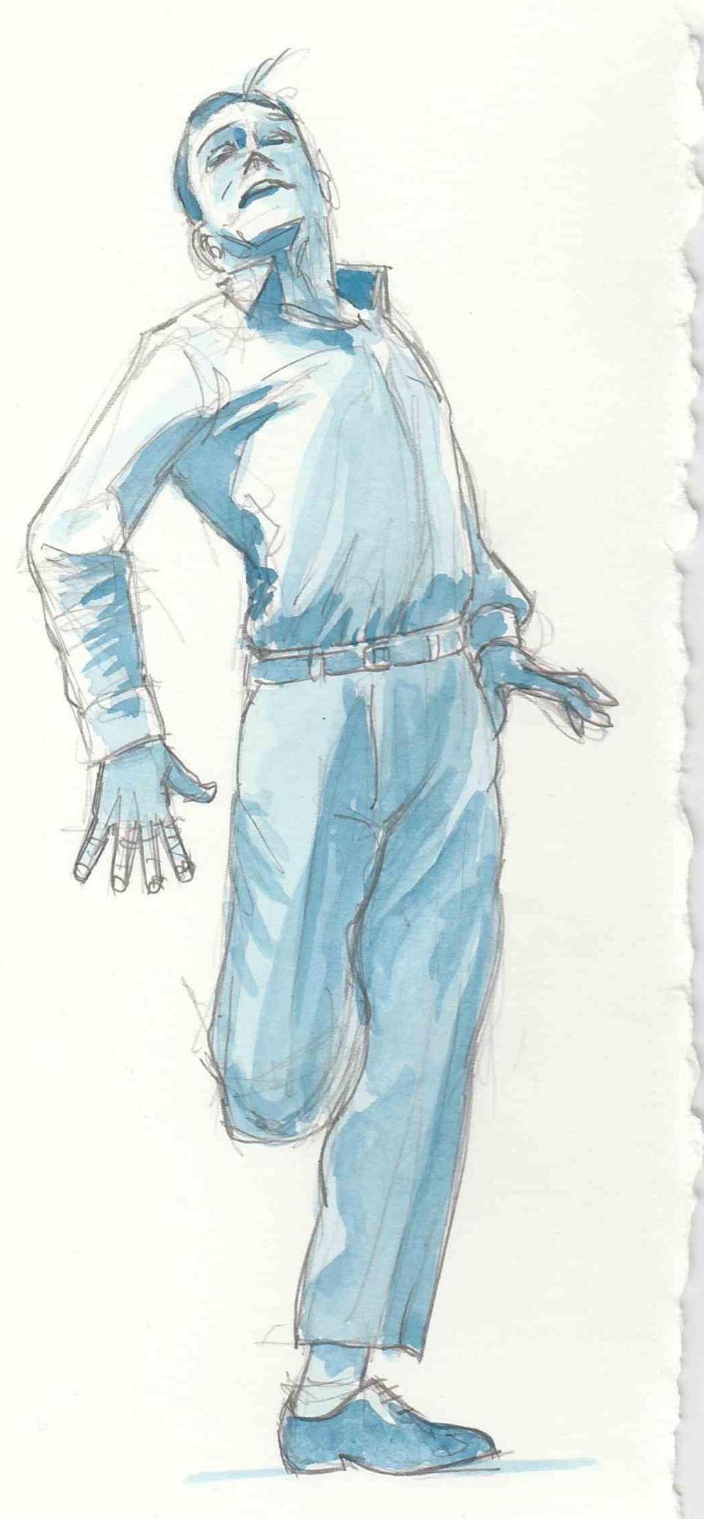 Gene Kelly watercolour  by JeremyWDunn