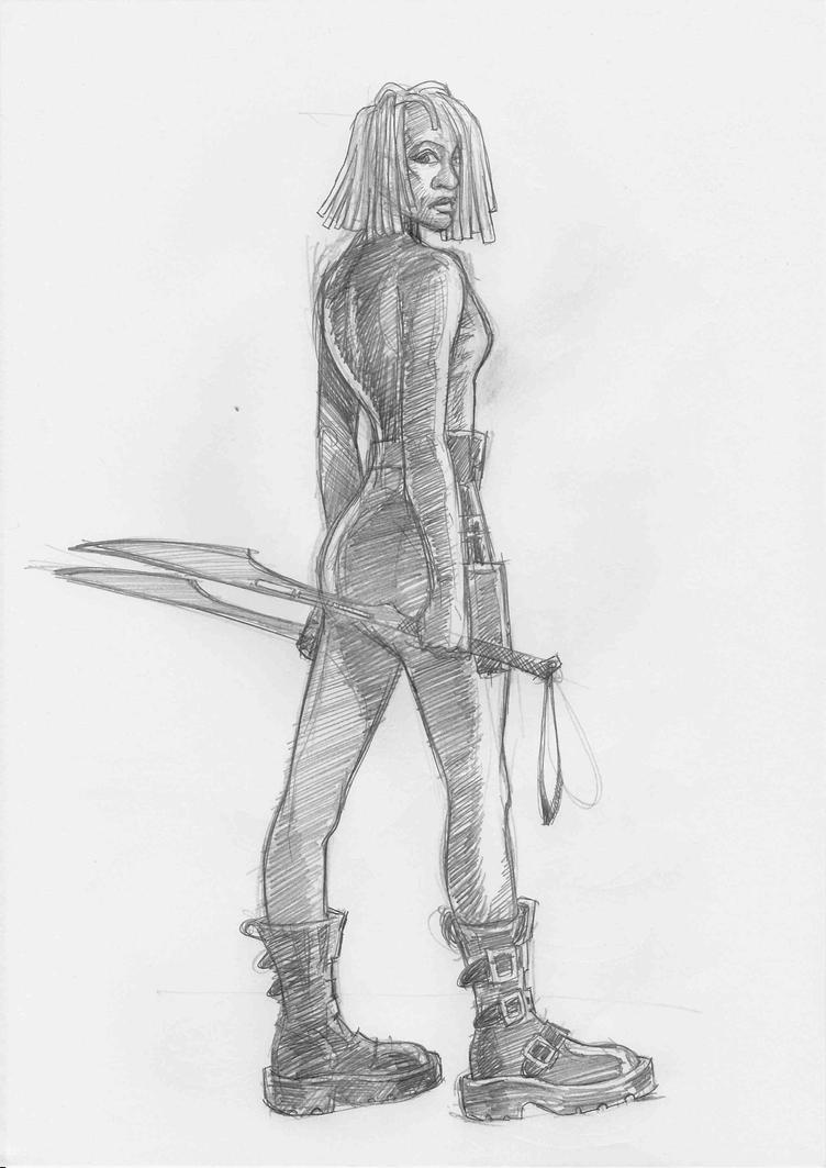 Future Michonne by JeremyWDunn