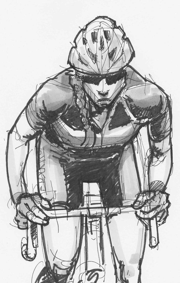 Cyclist by JeremyWDunn