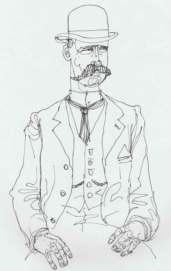 Gentleman in Bowler Hat by JeremyWDunn
