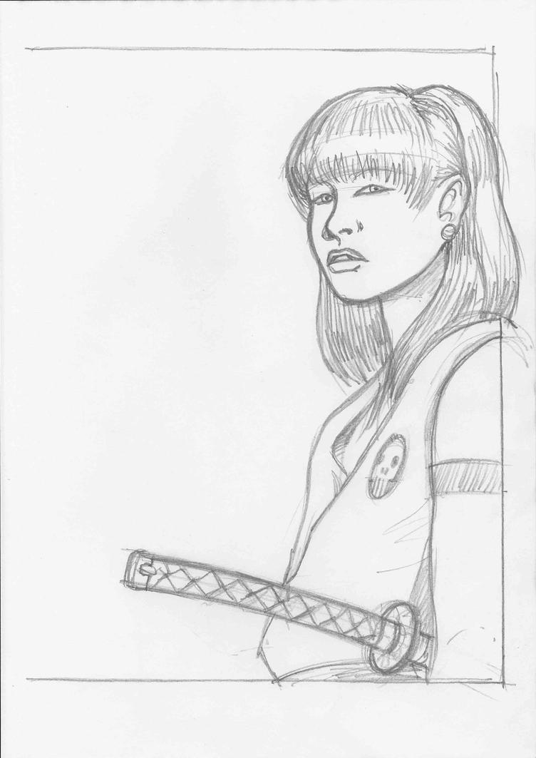 Samurai Girl by JeremyWDunn