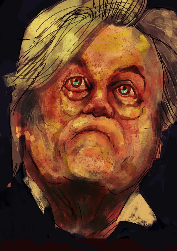 Steve Bannon, portrait of Fascism  by JeremyWDunn