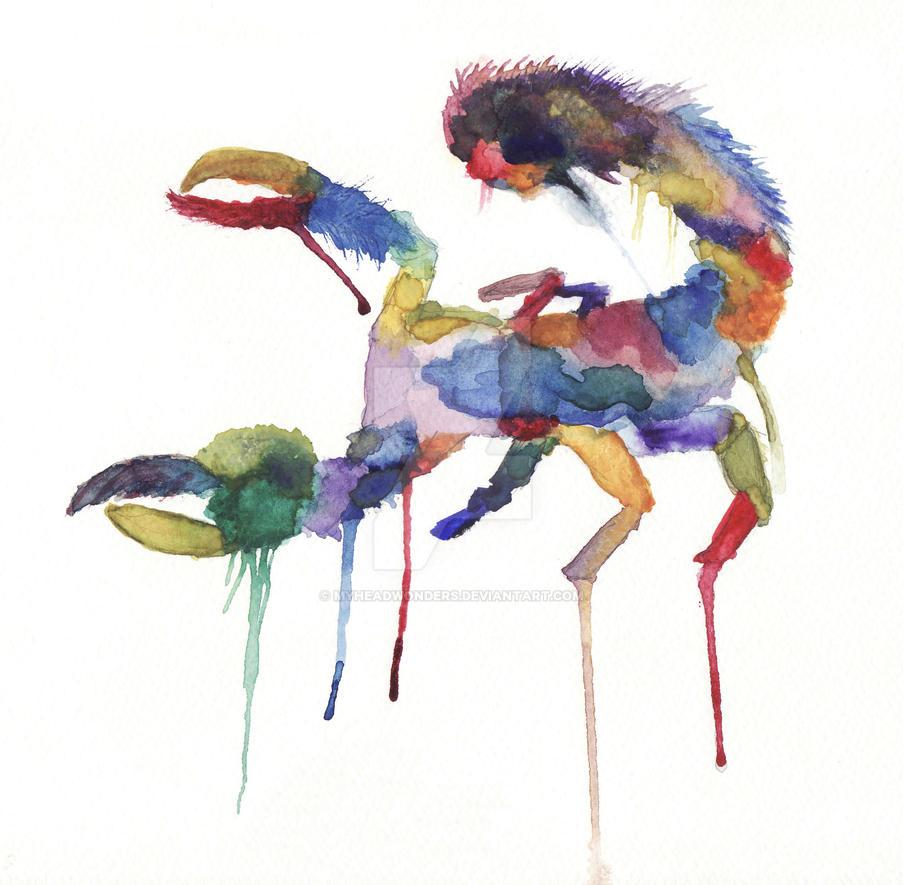 Abstract Scorpion by MyHeadWonders