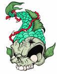 Green Skeleton Fish