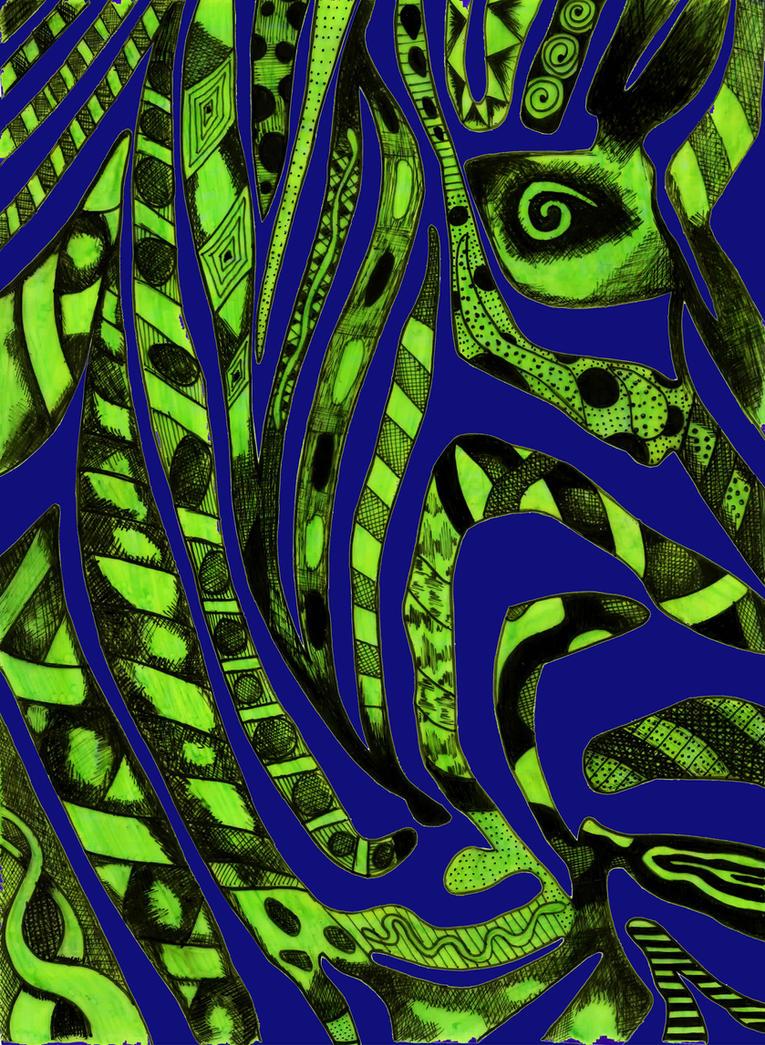 Hidden Zebra 2 by MyHeadWonders