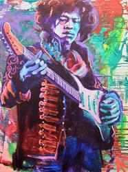 Jimi Hendrix  by AlejandroFineArt