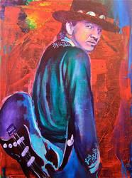 Stevie Ray Vaughan by AlejandroFineArt