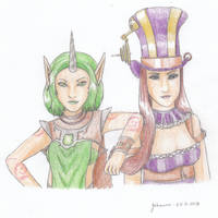 League of Legends - Soraka and Caitlyn by CurrentlyLoading