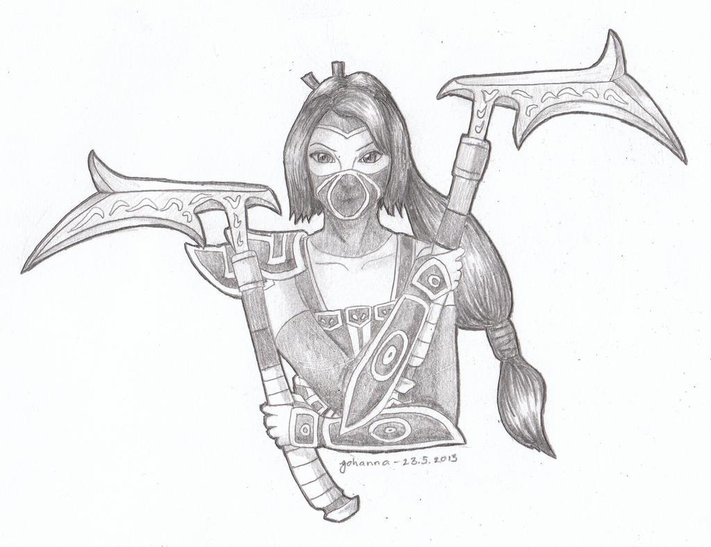 League of Legends - Akali by CurrentlyLoading on DeviantArt