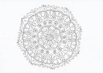 Flowery mandala by CurrentlyLoading