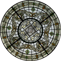 Window Medalion by FollowinTheBlackBird