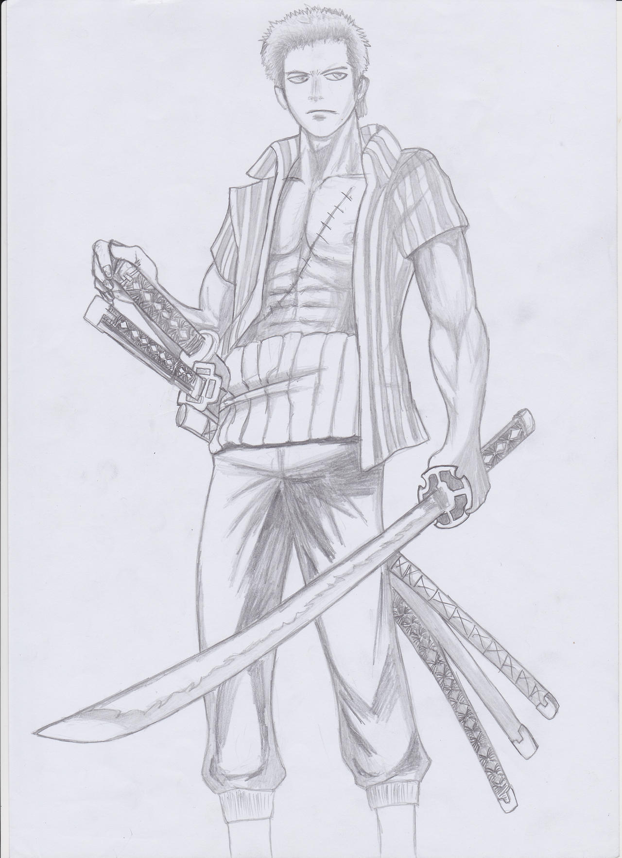 roronoa zoro from one piece by santoryu1 on DeviantArt Zoro Roronoa New World