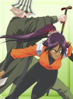 Urahara and Yoruichi by HinataSenpai