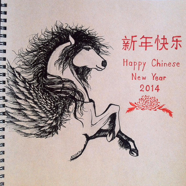 Year of Horse ... Happy Chinese New Year 2014 by Nichapon ...
