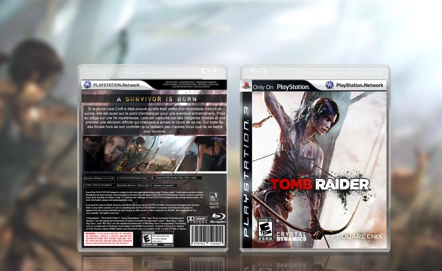 tomb raider 2013 a survivor is born fan box art by
