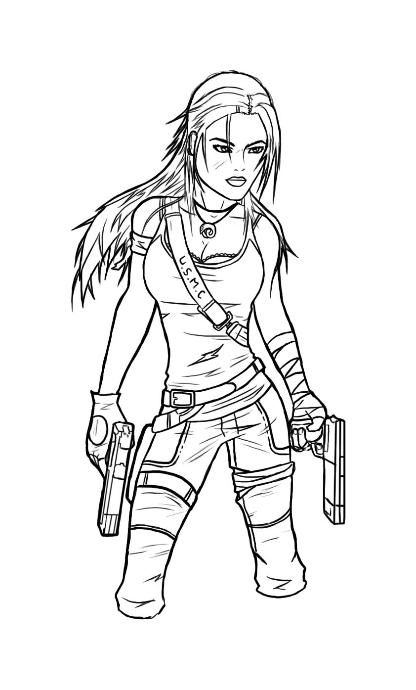 Lara Croft Tomb Raider -  - Lineart