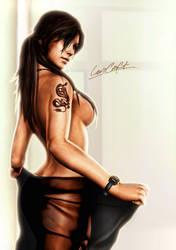 Lara Croft at Home by LitoPerezito