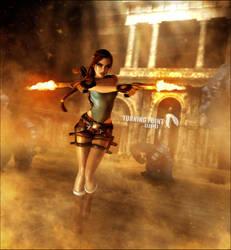 Lara Croft Tomb Raider Anniversary Render by LitoPerezito