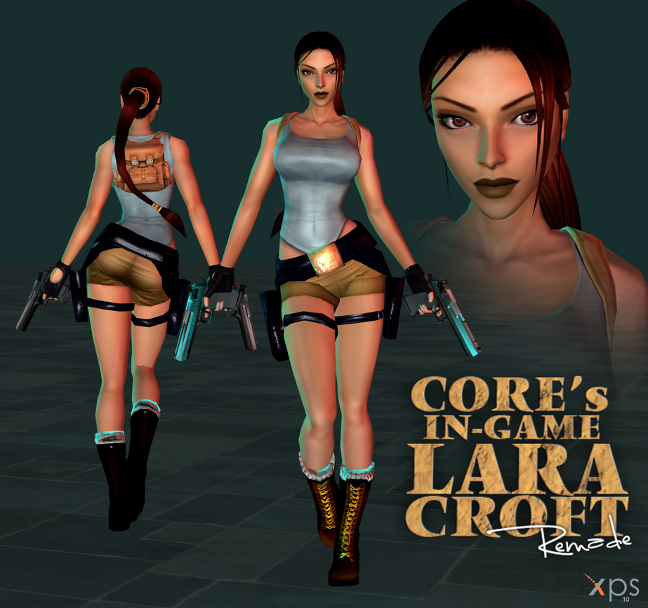 Tomb Rider Wallpaper: Core's In-Game Lara Croft Remade Model For XPS By