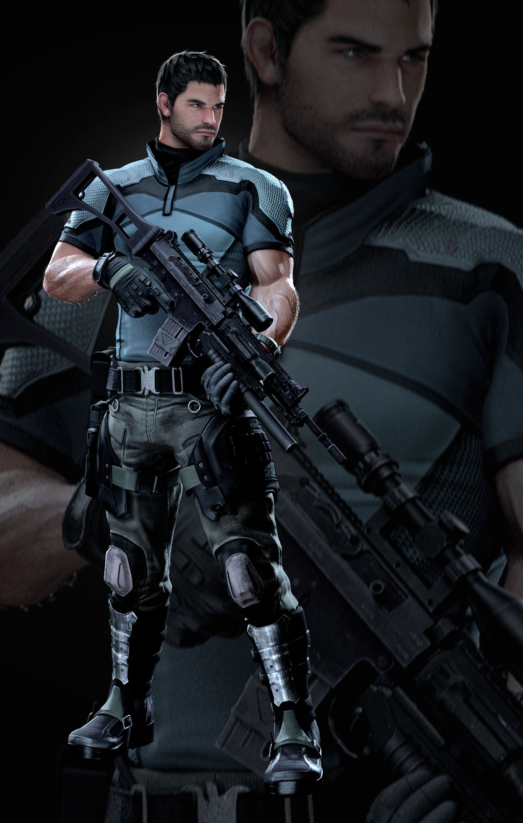 Vendetta Chris Redfield - Render