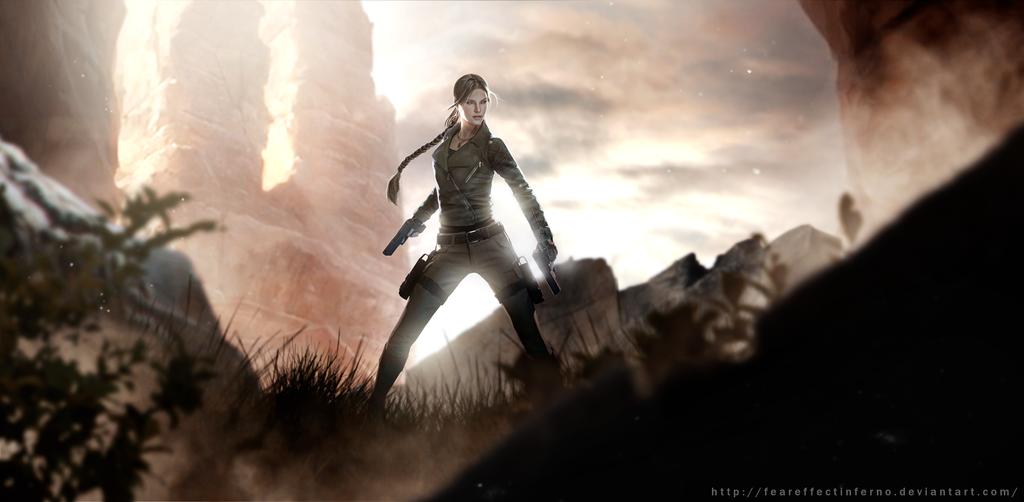 Lara Croft Tomb Raider Fan Art by FearEffectInferno
