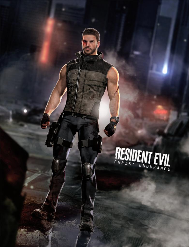 Chris' Endurance - Resident Evil by LitoPerezito