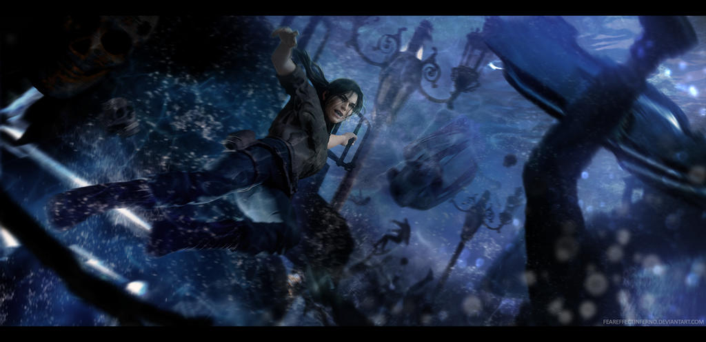 Shadow of the Tomb Raider - Lara VS Tsunami by FearEffectInferno