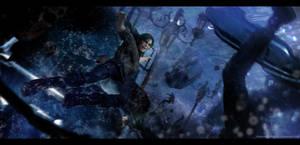 Shadow of the Tomb Raider - Lara VS Tsunami by LitoPerezito
